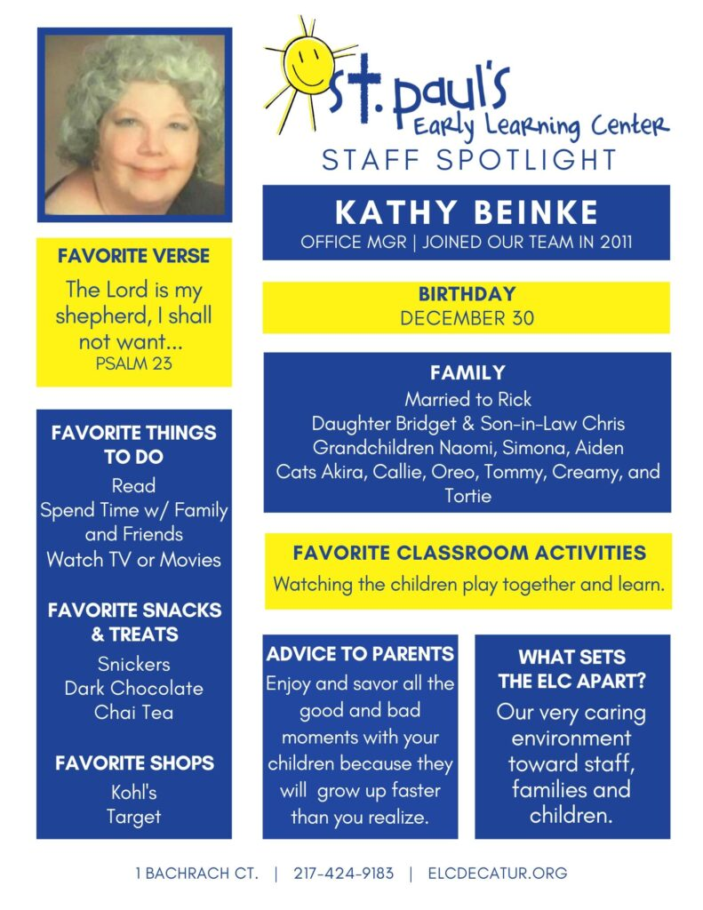 Teacher Spotlight: Kathy Beinke